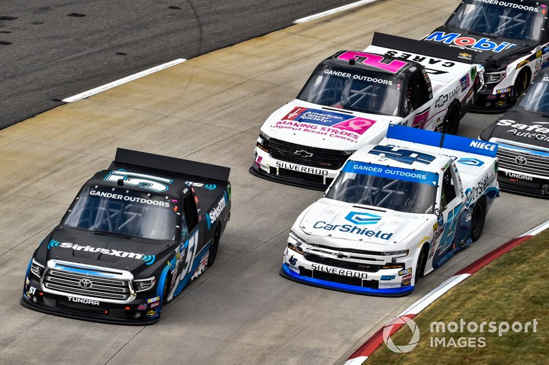 Christian Eckes, Kyle Busch Motorsports, Toyota Tundra SiriusXM, Ross Chastain, Niece Motorsports, Chevrolet Silverado CarShield, #2: Sheldon Creed, GMS Racing, Chevrolet Silverado Chevrolet Cares