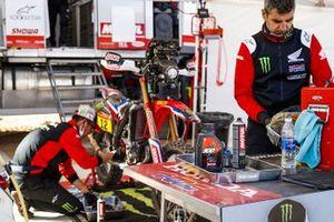Monster Energy Honda Team members at work