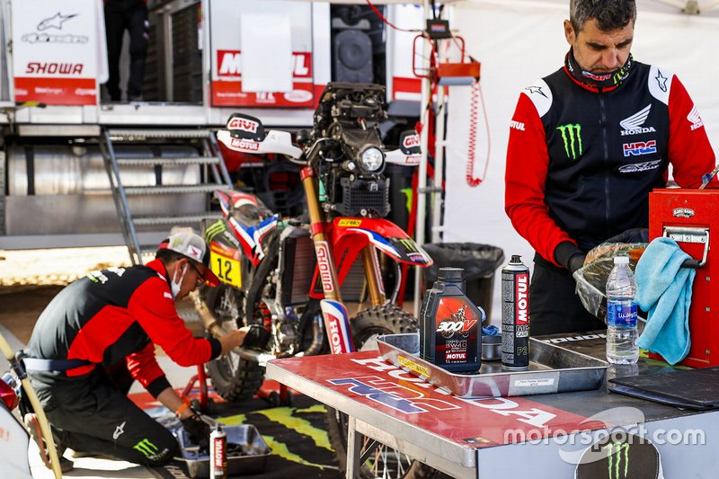 Monster Energy Honda Team members at work