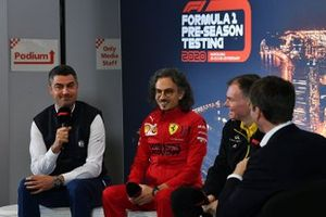 Michael Masi, Race Director, Laurent Mekies, Sporting Director, Ferrari and Alan Permane, Sporting Director, Renault Sport F1 Team in the press conference