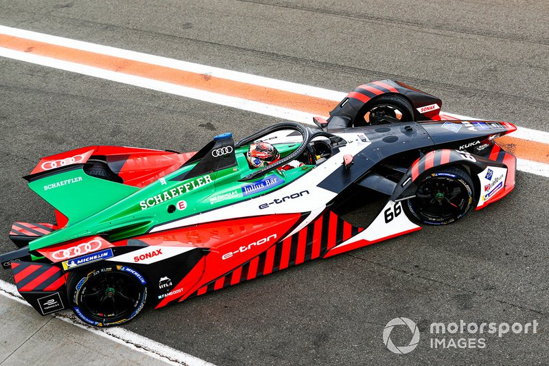 Daniel Abt, Audi Sport ABT Schaeffler, Audi e-tron FE06 in the pit lane