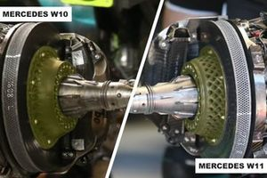Frenos delanteros del Mercedes AMG F1 W10 y W11