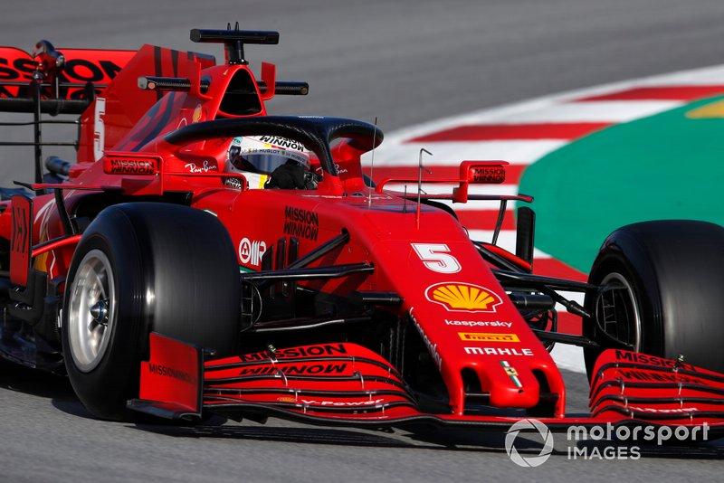 9º Sebastian Vettel, Ferrari SF1000: 1:16.841 (con neumáticos C5)