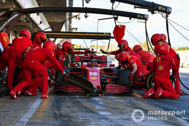 Charles Leclerc, Ferrari SF1000, pit stop