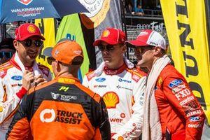 Fabian Coulthard, DJR Team Penske Ford, Scott McLaughlin, DJR Team Penske Ford, Lee Holdsworth, Tickford Racing Ford, Will Davison, 23Red Racing Ford