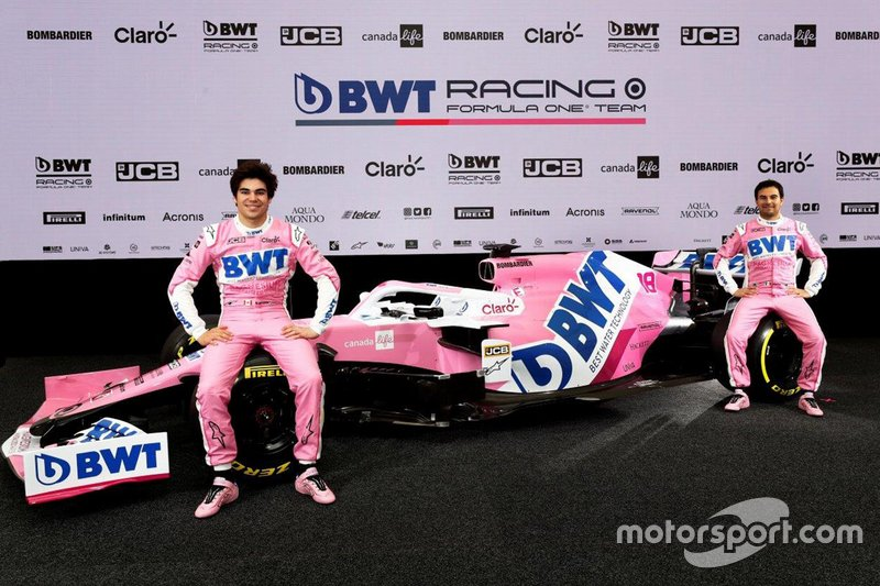 Nueva decoración del Racing Point con Sergio Pérez y Lance Stroll