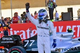 Le poleman Valtteri Bottas, Mercedes AMG W10