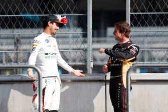 Antonio Felix da Costa, DS Techeetah, Lucas Di Grassi, Audi Sport ABT Schaeffler, on the pit wall