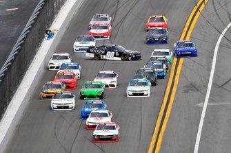 Myatt Snider, Richard Childress Racing, Chevrolet Camaro TaxSlayer and Caesar Bacarella, DGM Racing, Chevrolet Camaro Maxim / Alpha Prime Regimen spins