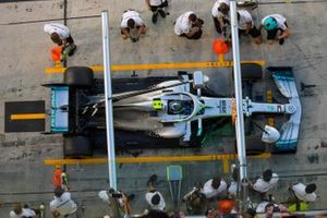 Valtteri Bottas, Mercedes AMG F1, in the pit lane