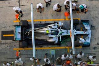 Valtteri Bottas, Mercedes AMG F1, in the pit lane