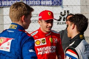 Nyck de Vries, Charles Leclerc, Ferrari and Robert Shwartzman
