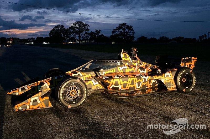 Arrow McLaren SP testing ivery