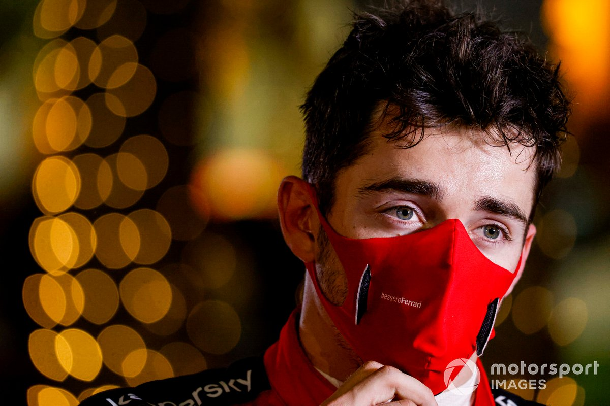 Charles Leclerc, Ferrari parla ai media