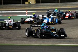 Matteo Nannini, HWA Racelab, leads Ralph Boschung, Campos Racing, and Richard Verschoor, MP Motorsport