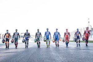 Negen winnaars in 2020: Maverick Vinales, Yamaha Factory Racing, Brad Binder, Red Bull KTM Factory Racing, Franco Morbidelli, Petronas Yamaha SRT, Andrea Dovizioso, Ducati Team, Joan Mir, Team Suzuki MotoGP, Miguel Oliveira, Red Bull KTM Tech 3, Alex Rins, Team Suzuki MotoGP, Danilo Petrucci, Ducati Team, Fabio Quartararo, Petronas Yamaha SRT