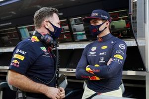 Christian Horner, Team Principal, Red Bull Racing and Max Verstappen, Red Bull Racing