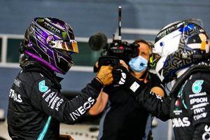 Polesitter Lewis Hamilton, Mercedes, second place Valtteri Bottas, Mercedes