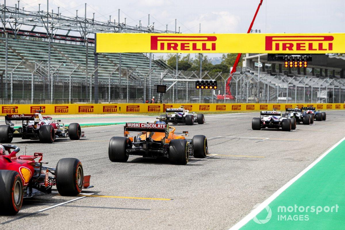 Mick Schumacher, Haas VF-21, Nikita Mazepin, Haas VF-21, Kimi Raikkonen, Alfa Romeo Racing C41, Lando Norris, McLaren MCL35M