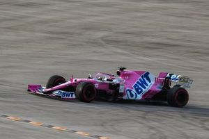Sergio Perez, Racing Point RP20, leaves the circuit