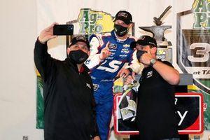 Jeb Burton, Kaulig Racing, Chevrolet Camaro LS Tractors celebrates in victory lane