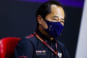 Toyoharu Tanabe, Directeur Technique F1, Honda, en conférence de presse