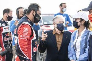 #301 Toyota Gazoo Racing: Nasser Al-Attiyah with FIA president Jean Todt