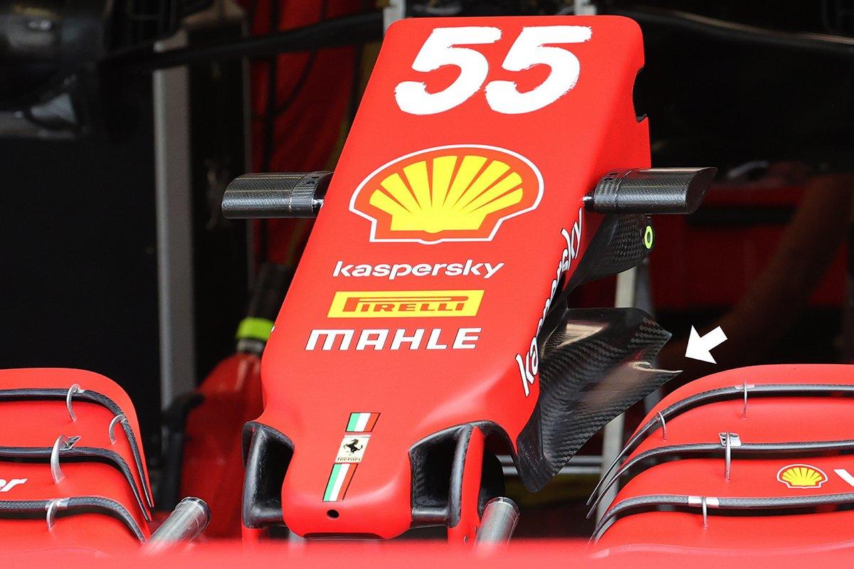 Ferrari SF21: Frontpartie