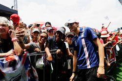 Esteban Ocon, Force India, en el escenario de la F1