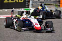 Sandy Stuvik, Trident leads Alex Palou, Campos Racing