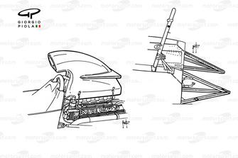 Détails de la boîte à air et du châssis de la BRM P160E