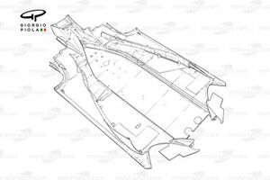 Fond plat de la Ferrari F2005