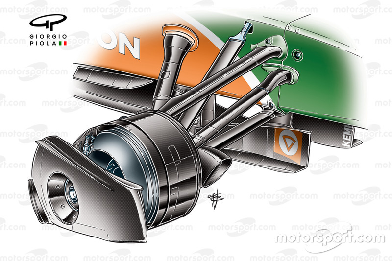 Force India VJM02 front rim cover