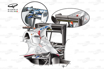 Sauber C29 'F-Duct' detail, note intake on top of sidepod