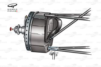Conduit de frein avant de l'Arrows A22