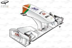 Nez de la Force India VJM04, faible appui