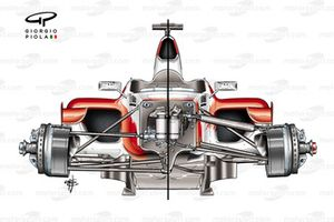 Toyota TF105B 2005 front-end chassis and suspension comparison