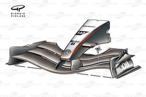 McLaren MP4-19B 2004 new front wing and nose