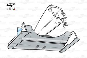 Williams FW21 front wing and nose