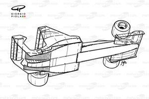 Vue d'ensemble aéro de la Toleman TG183B