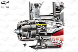 Frein arrière de la McLaren MP4-28