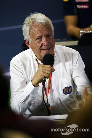 Charlie Whiting, Delegado de FIA