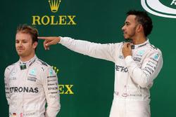 Nico Rosberg, Mercedes AMG F1  and Lewis Hamilton, Mercedes AMG F1