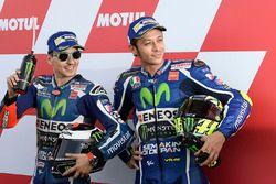 Polesitter Jorge Lorenzo, Yamaha Factory Racing, third position Valentino Rossi, Yamaha Factory Racing