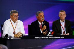 Conferencia de prensa: Ross Brawn, Managing Director de Motorsports, FOM, Chase Carey presidente de