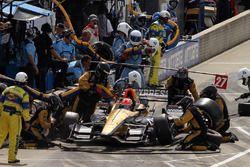James Hinchcliffe, Schmidt Peterson Motorsports Honda au stand