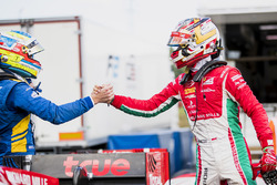Polesitter Charles Leclerc, PREMA Powerteam, second place Oliver Rowland, DAMS