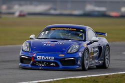 #11 GMG Racing, Porsche Cayman GT4 MR: Elias Sabo, James Sofronas, Matthew Halliday