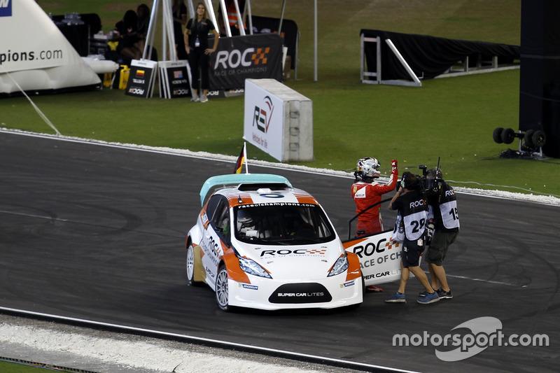 Il vincitore della Nations cup Sebastian Vettel