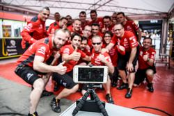 Citroën World Rally Team members take a photo